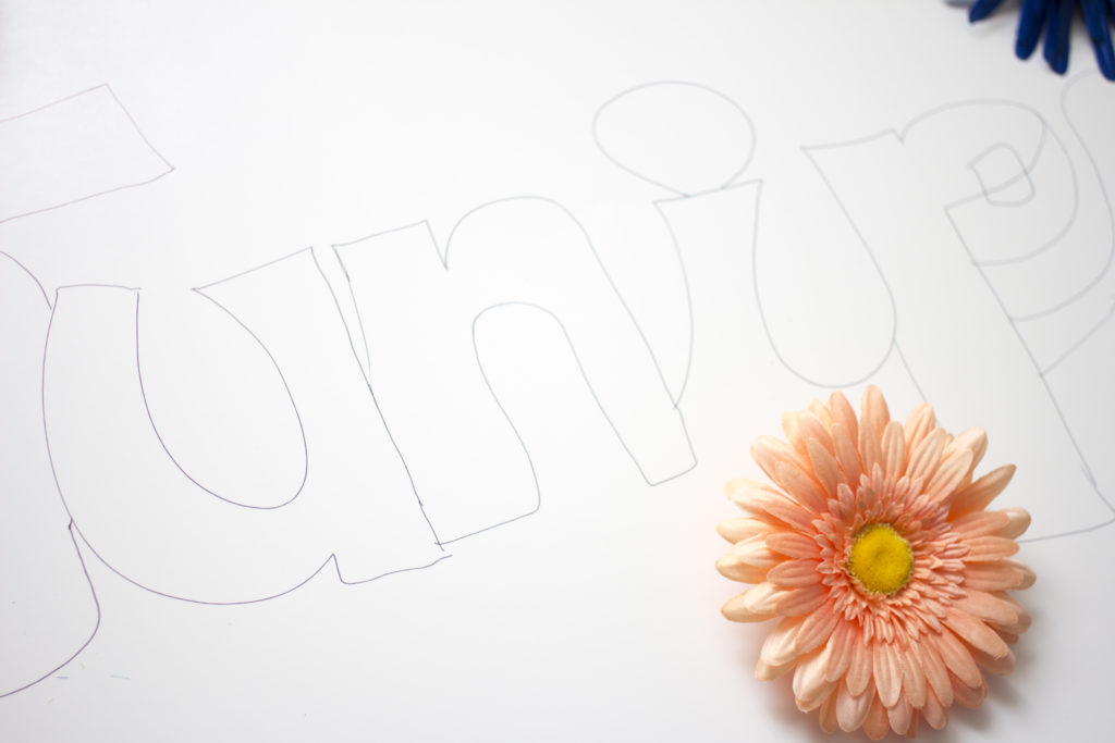 DIY Pet Name Wall Art | Coffee With Summer