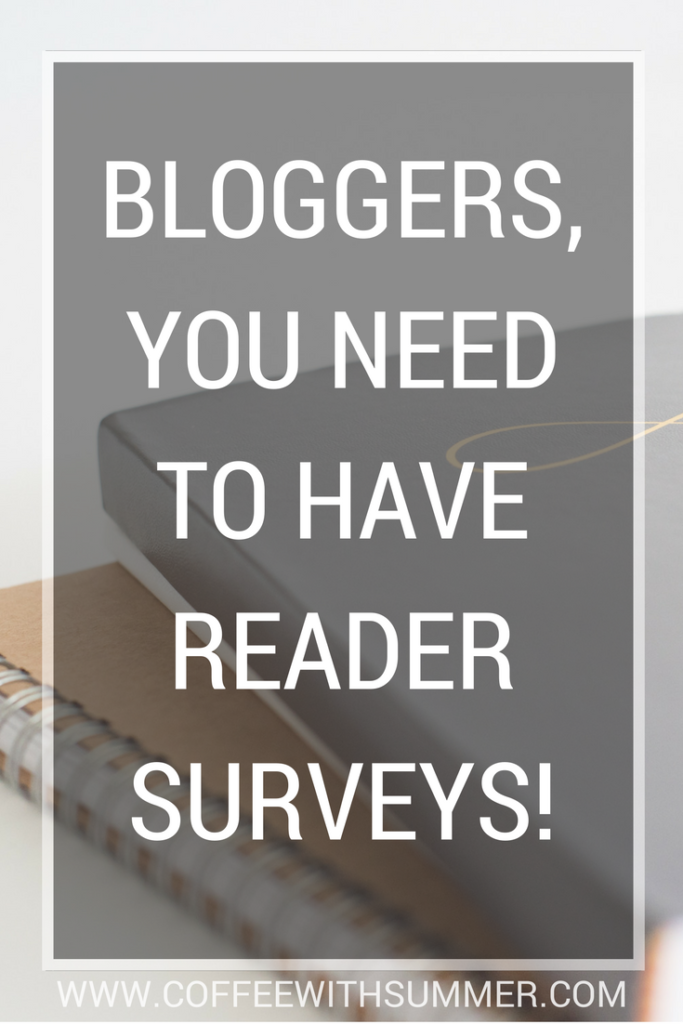 Bloggers, You Need To Have Reader Surveys! | Coffee With Summer