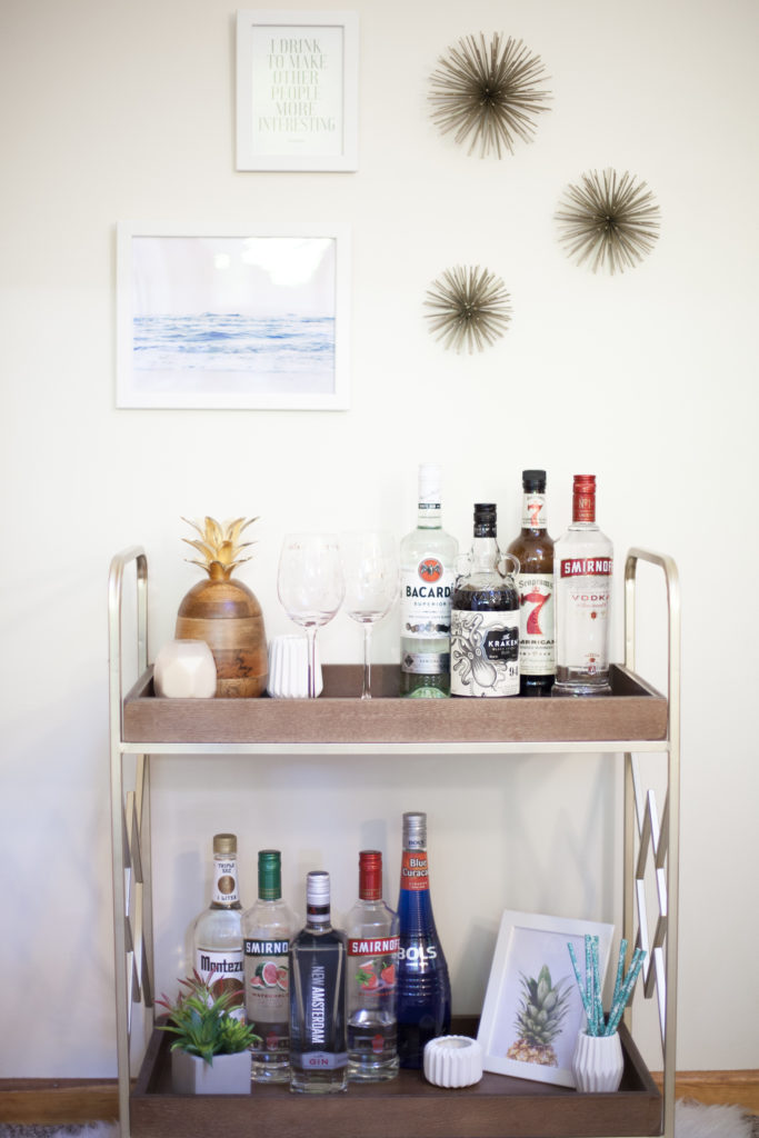 Mid-Century Modern Beach Bar Cart