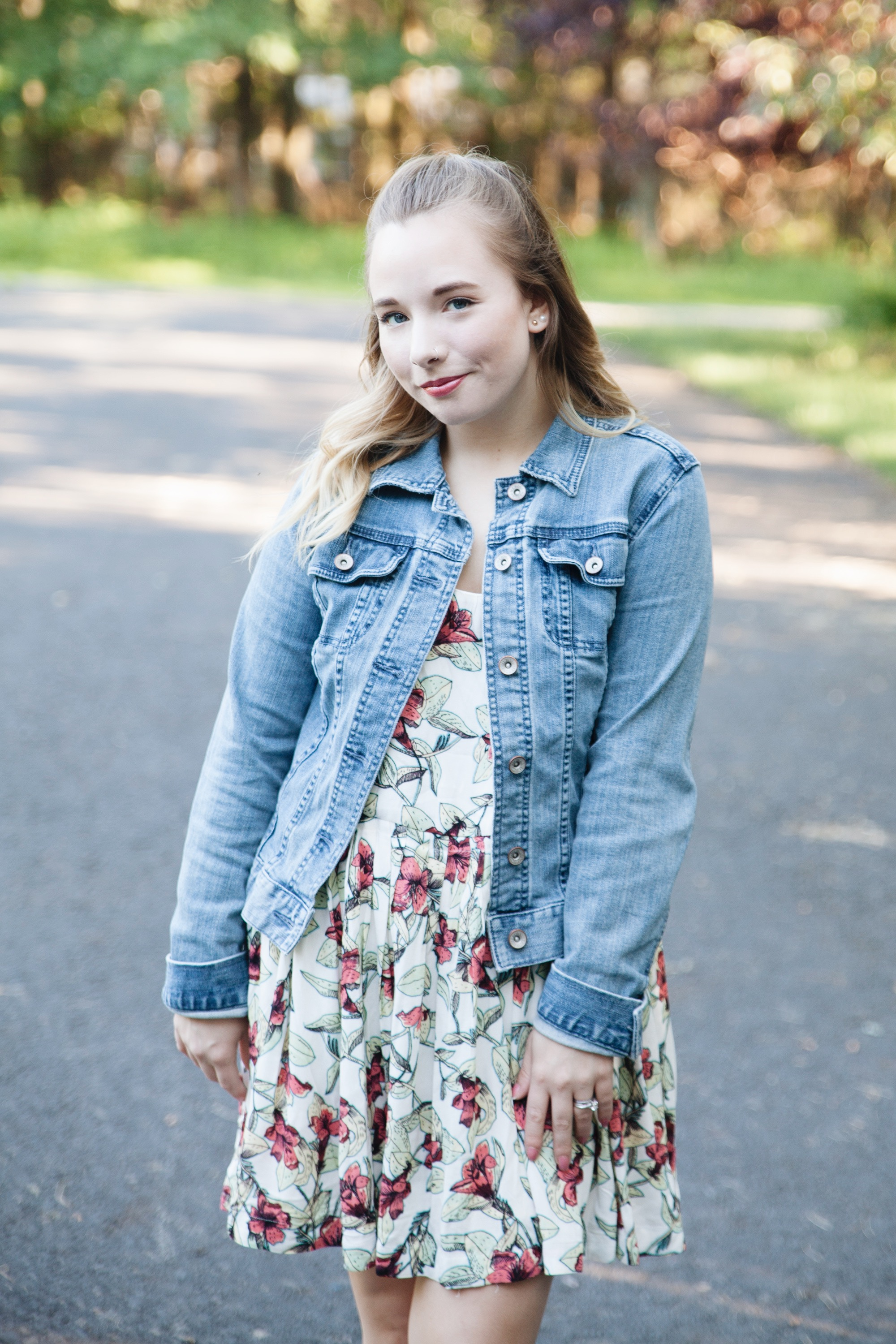 Floral Dress & Denim Jacket | Coffee With Summer
