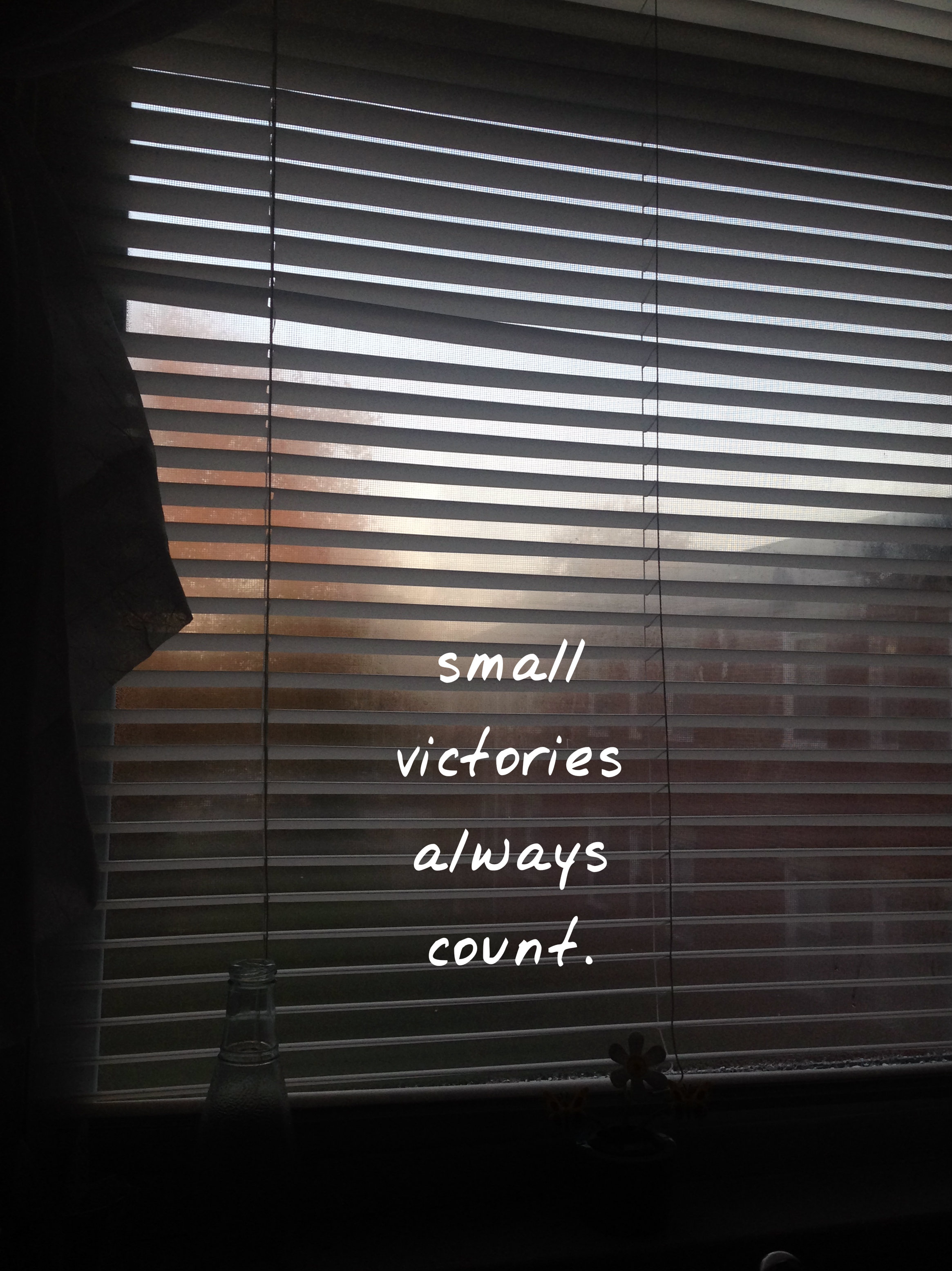 Small Victories Always Count