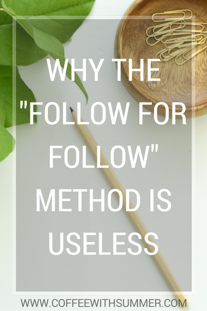 "Why The ""Follow For Follow"" Method Is Useless 