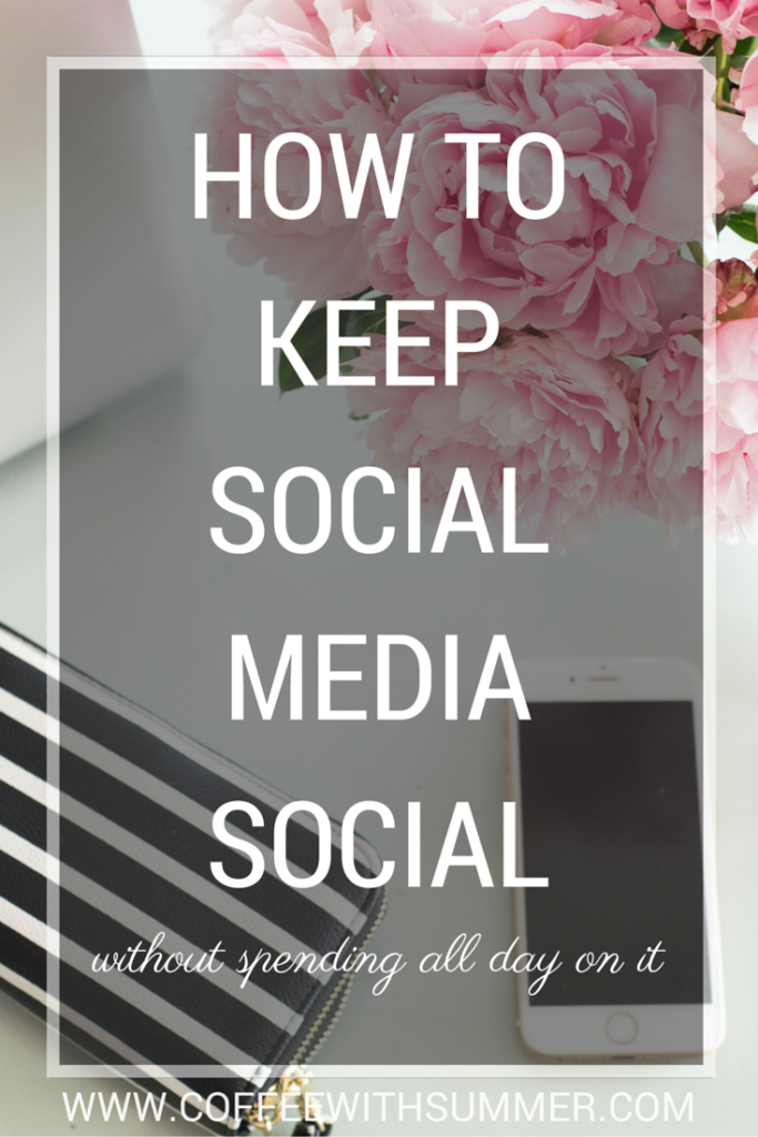 How To Keep Social Media Social | Coffee With Summer