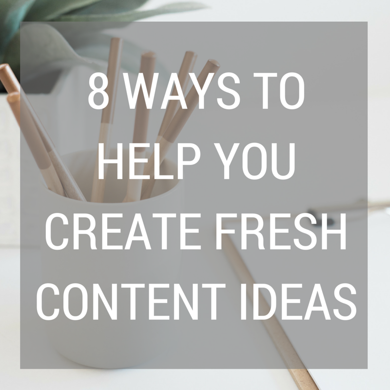 8 Ways To Help You Create Fresh Content Ideas | Coffee With Summer