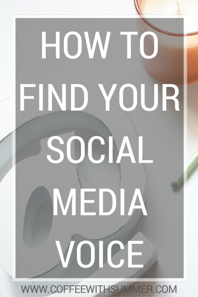 How To Find Your Social Media Voice   Coffee With Summer