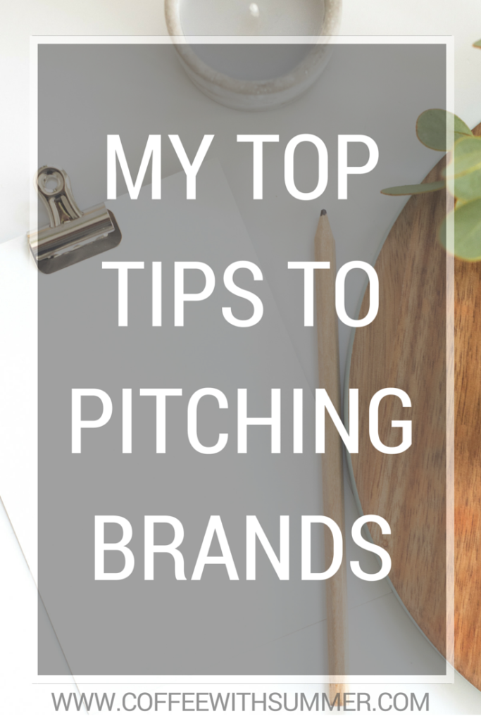 My Top Tips To Pitching Brands | Coffee With Summer