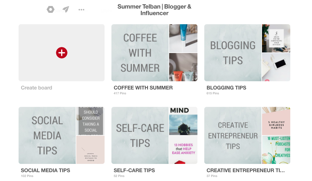 How To Craft The Perfect Pinterest Profile | Coffee With Summer