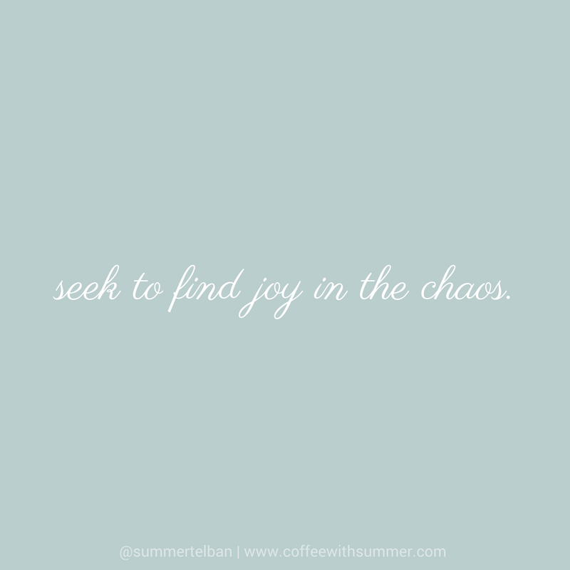 Seek To Find Joy | Coffee With Summer