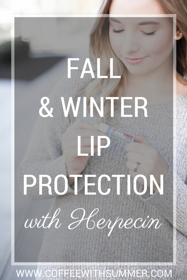 Fall & Winter Lip Protection with Herpecin | Coffee With Summer
