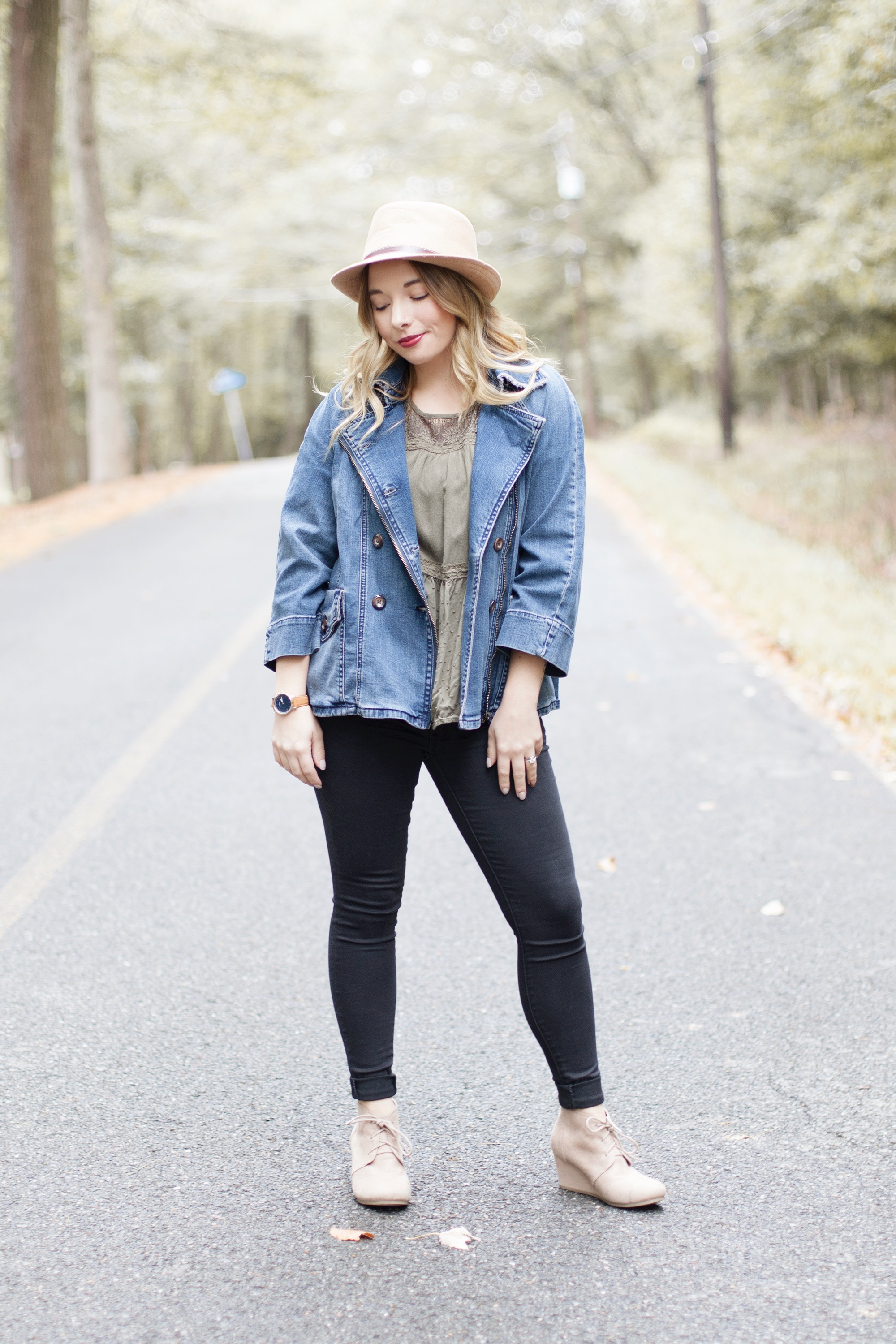 Oversized Denim Jacket Outfit - Coffee With Summer