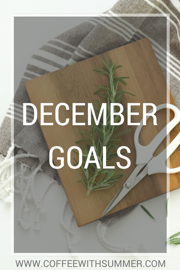 December Goals | Coffee With Summer