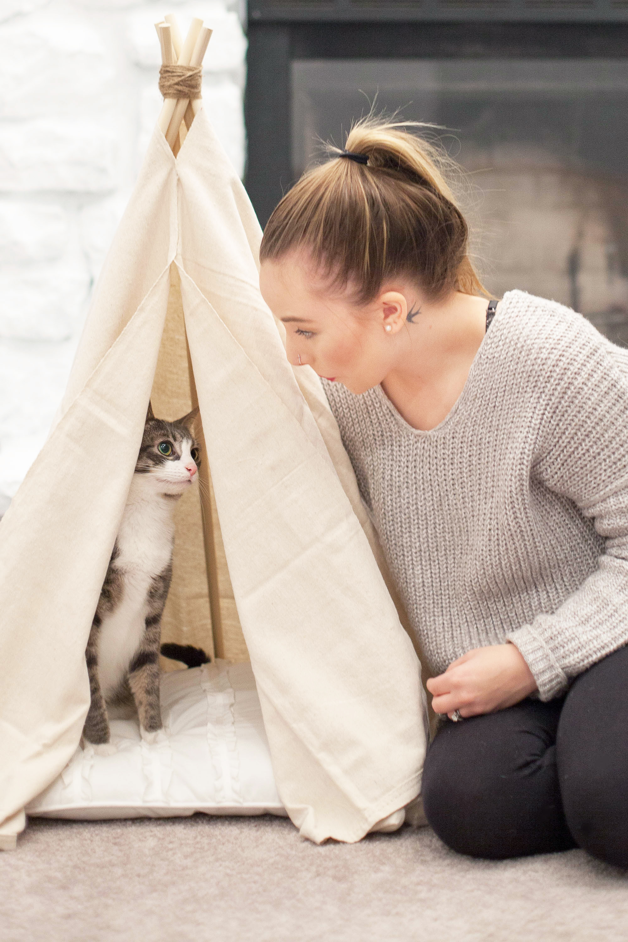 DIY Pet Teepee Bed | Coffee With Summer