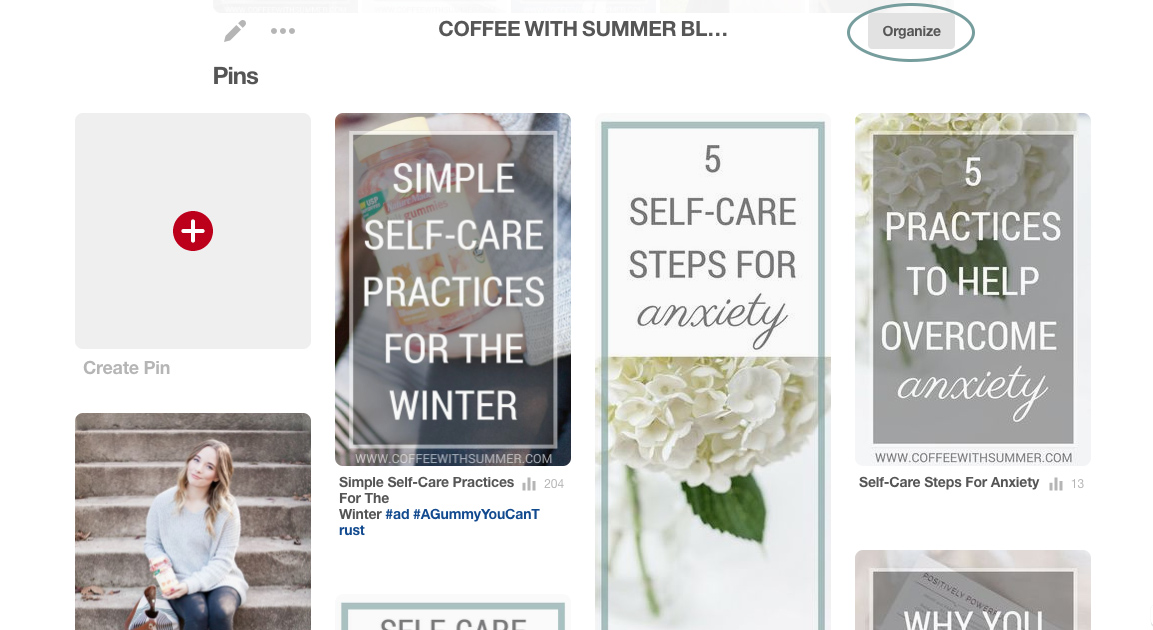 How To Make Pinterest Board Sections | Coffee With Summer