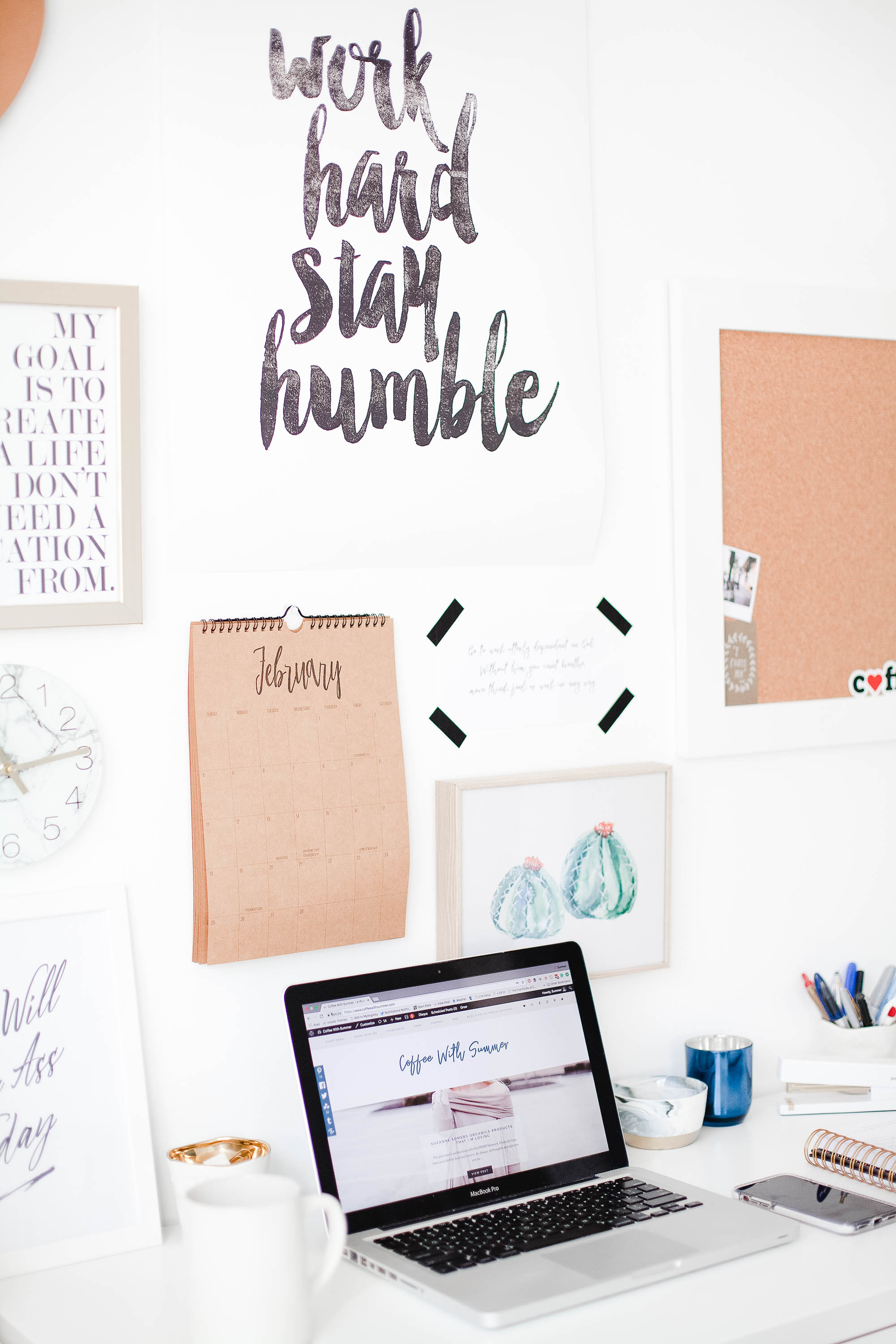 How To Create A Productive Desk Space | Coffee With Summer
