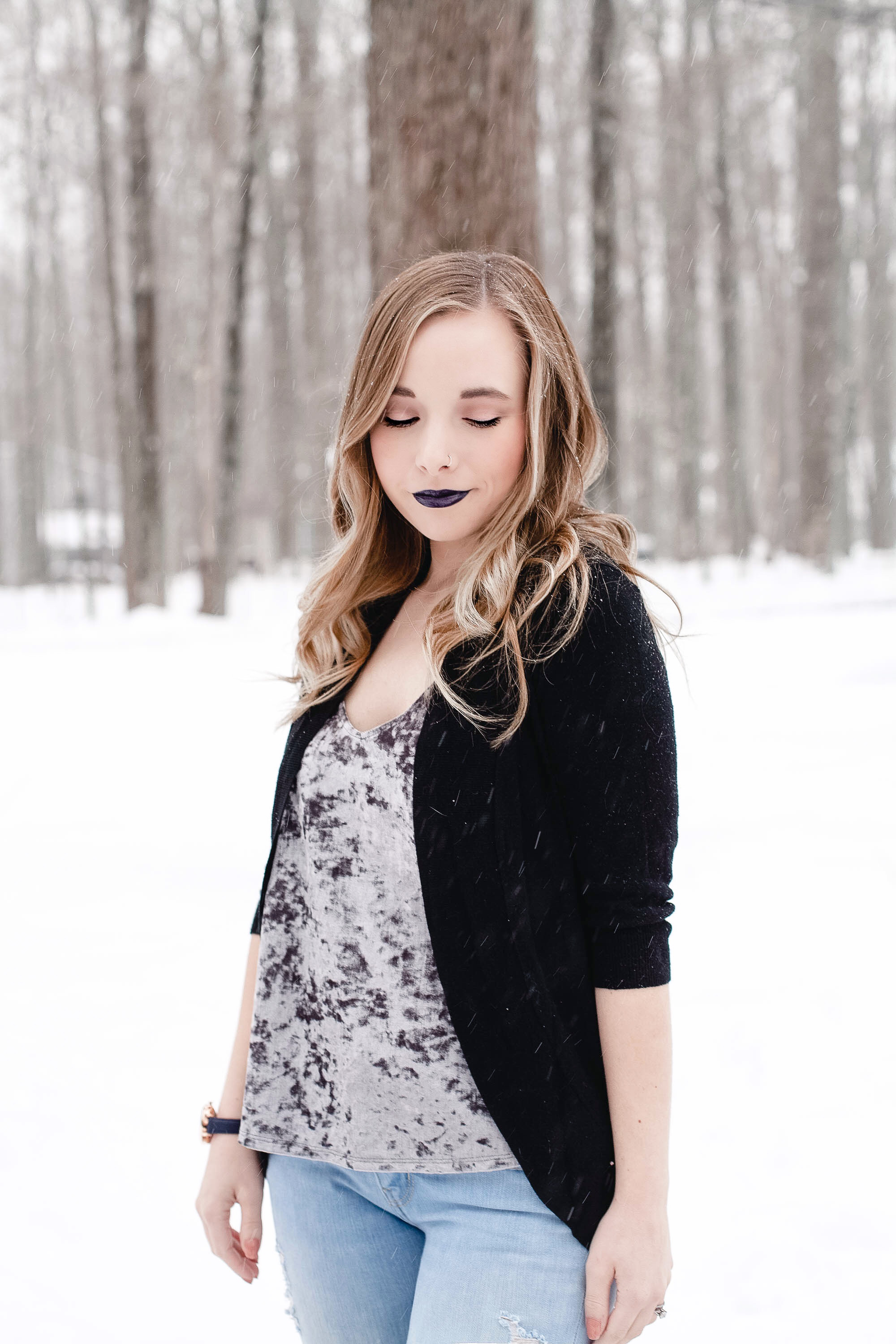 Velvet Tank Top (Winter To Spring Outfit) | Coffee With Summer