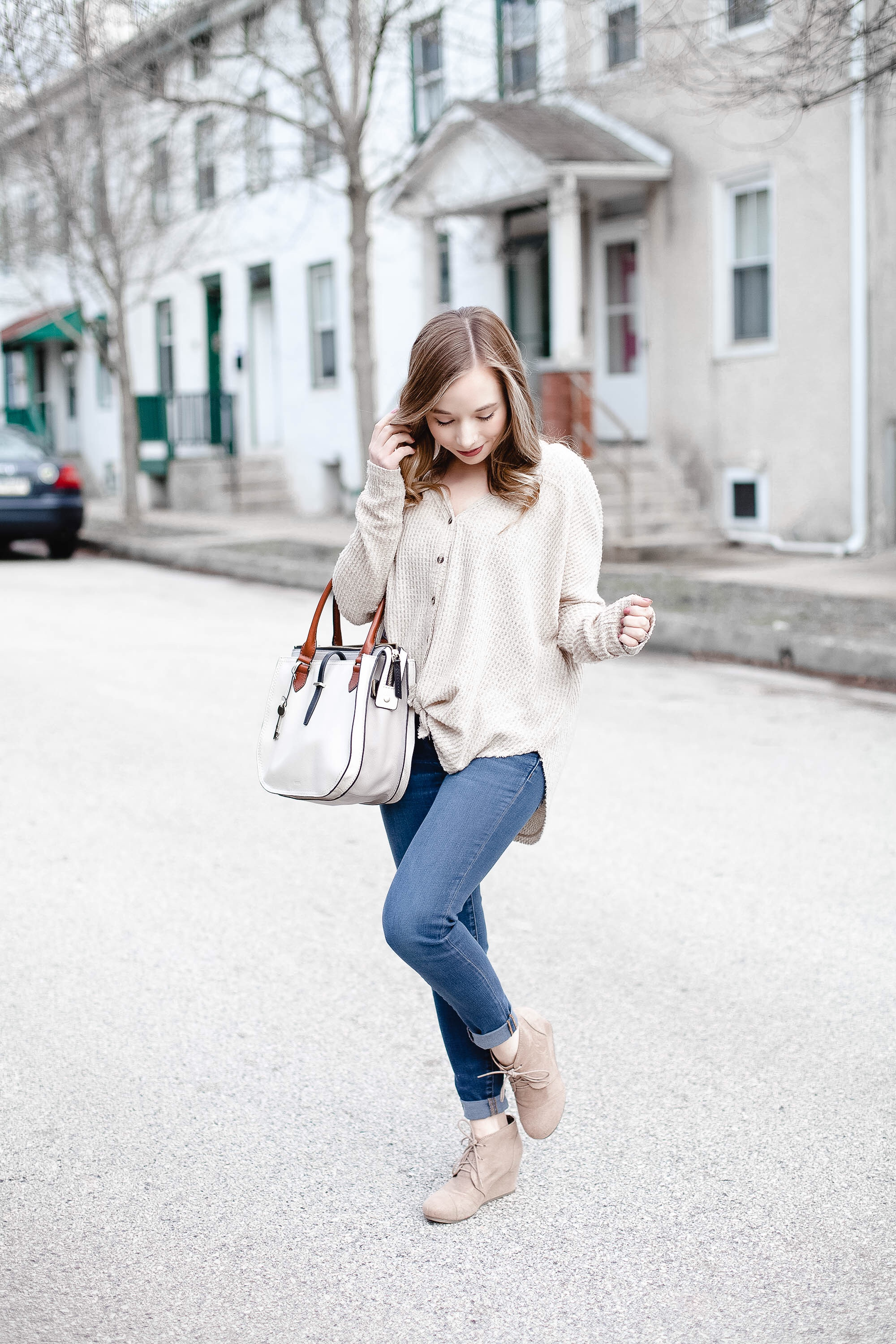 Oversized Thermal Top For Spring | Coffee With Summer