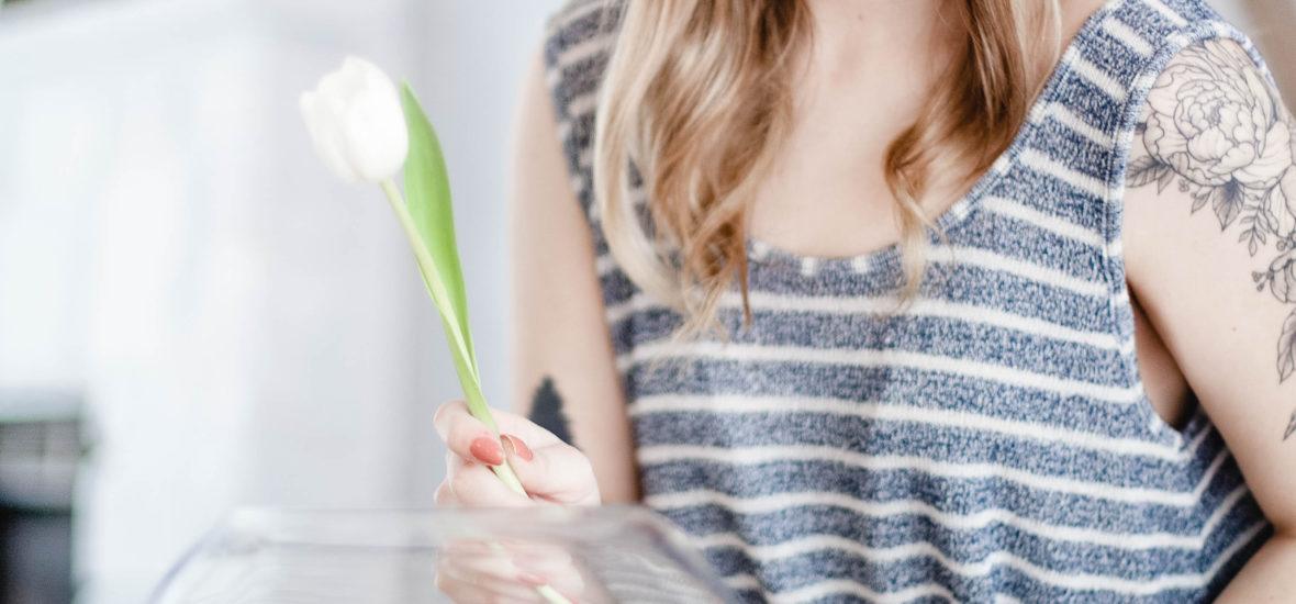 DIY Bowl Of Tulips Arrangement