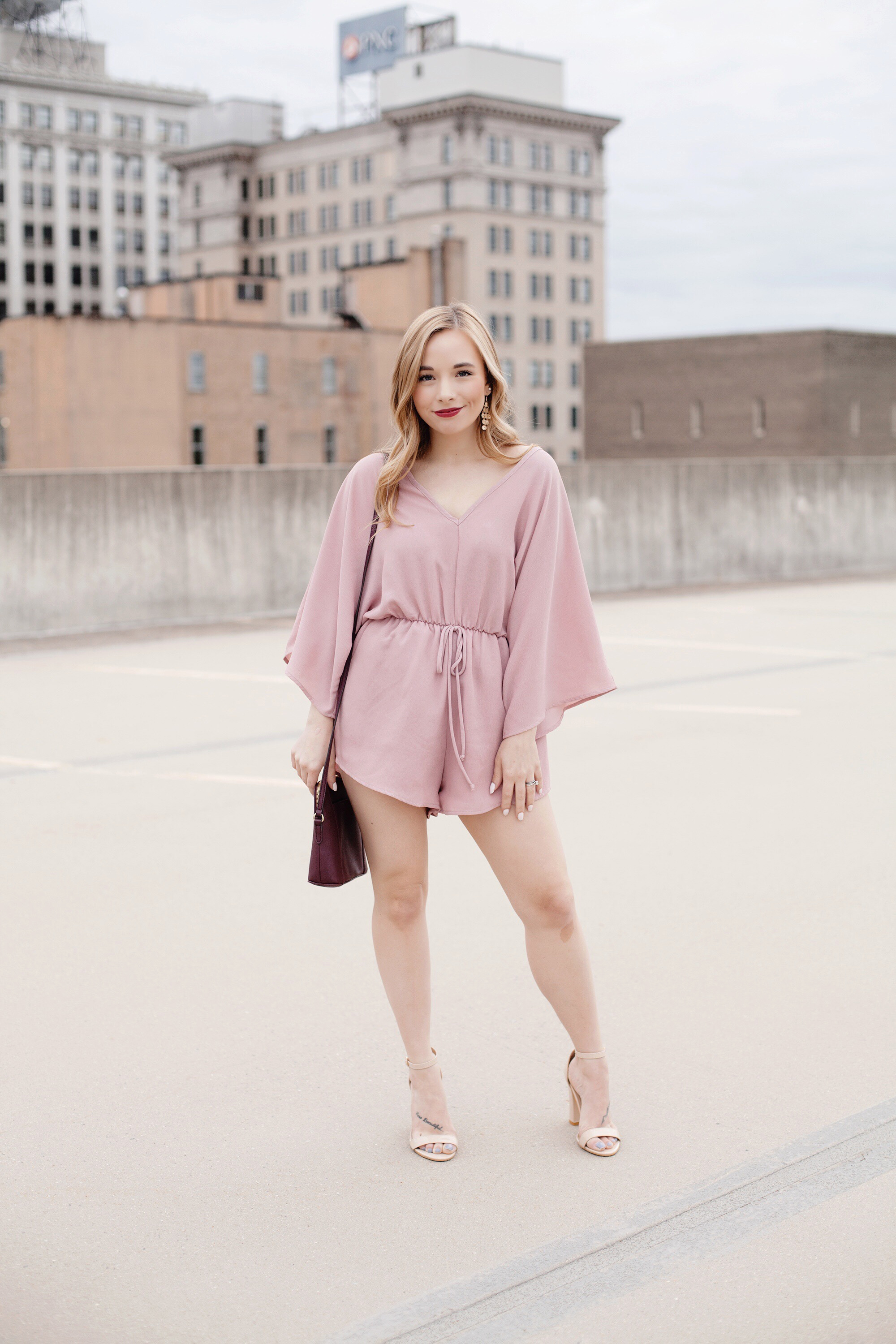 Mauve Romper | Date Night Outfit