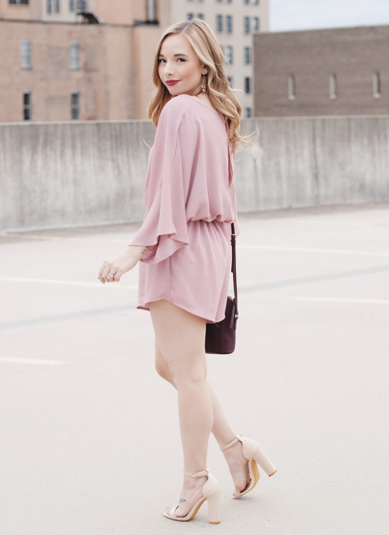 Mauve Romper From The Cheeky Lemon