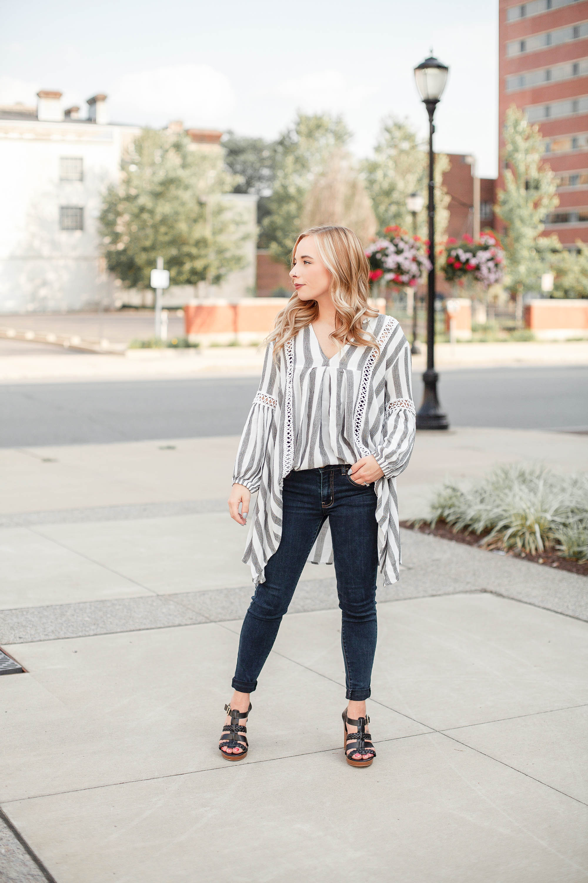 Striped Tunic Top from Chicwish