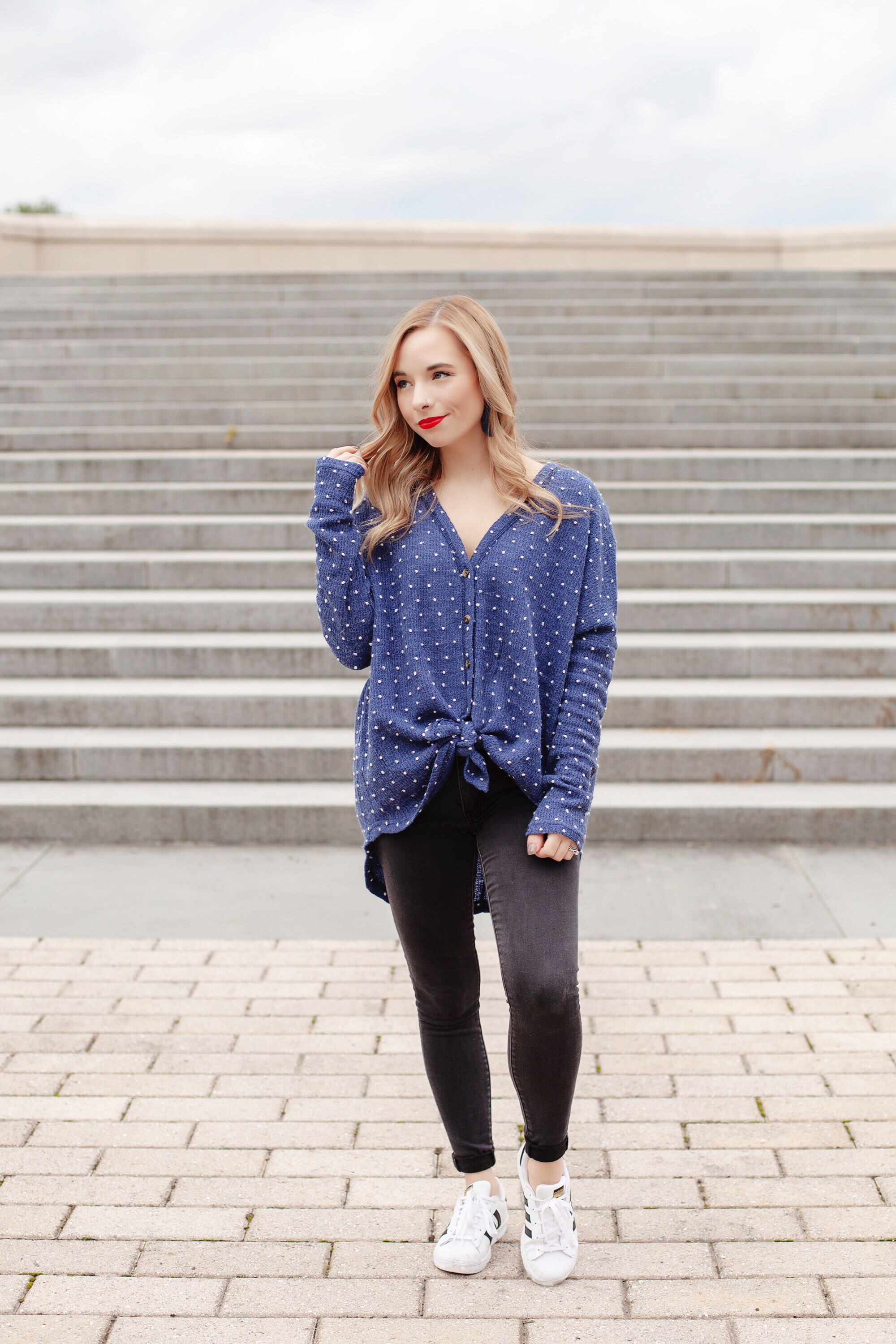 Tie-Front Thermal Top