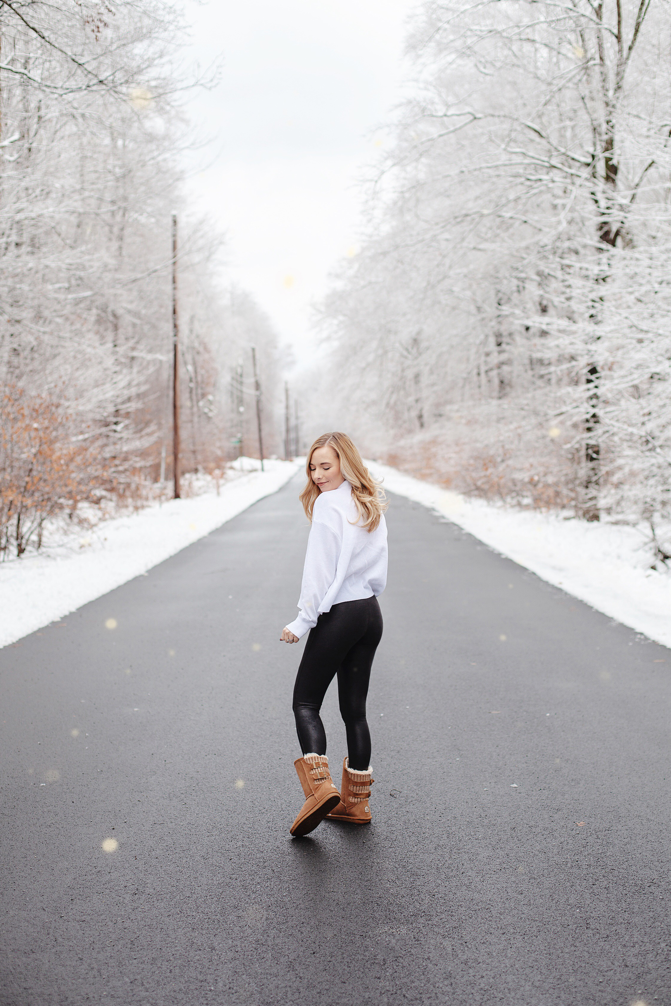 Casual Winter Outfit | Spanx Leggings