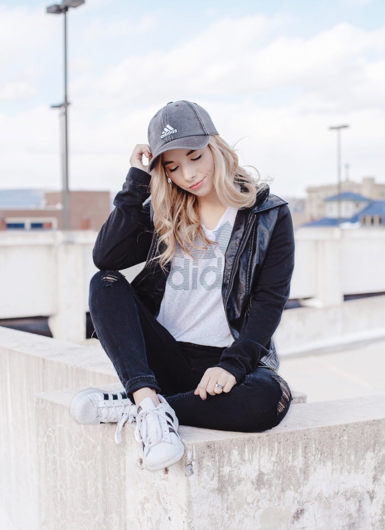 Edgy Street Style With Adidas