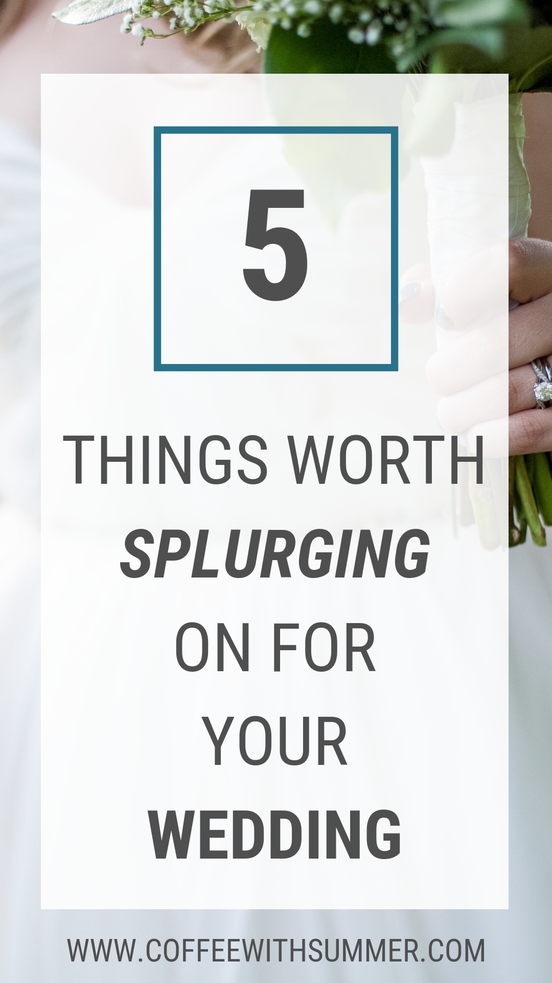 5 Things Worth Splurging On For Your Wedding