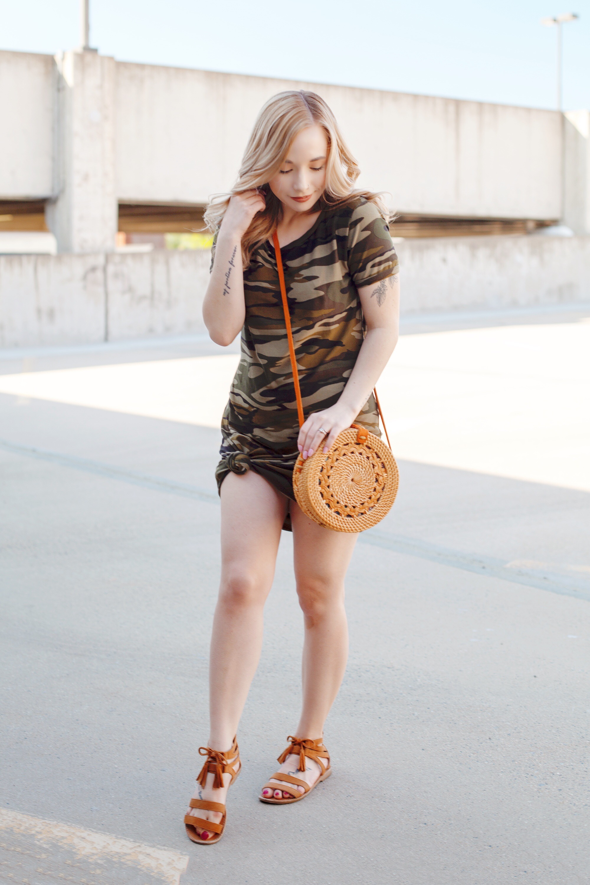Rattan Crossbody Bag For Summertime