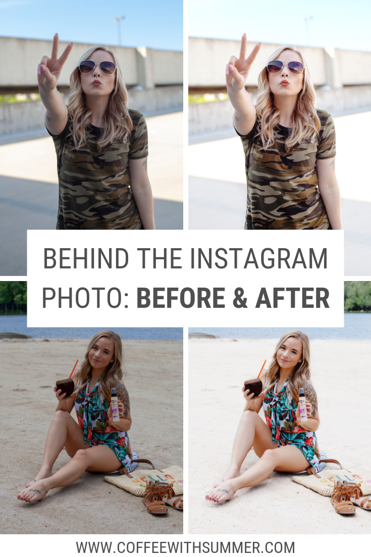 Behind The Instagram Photo: Before And After
