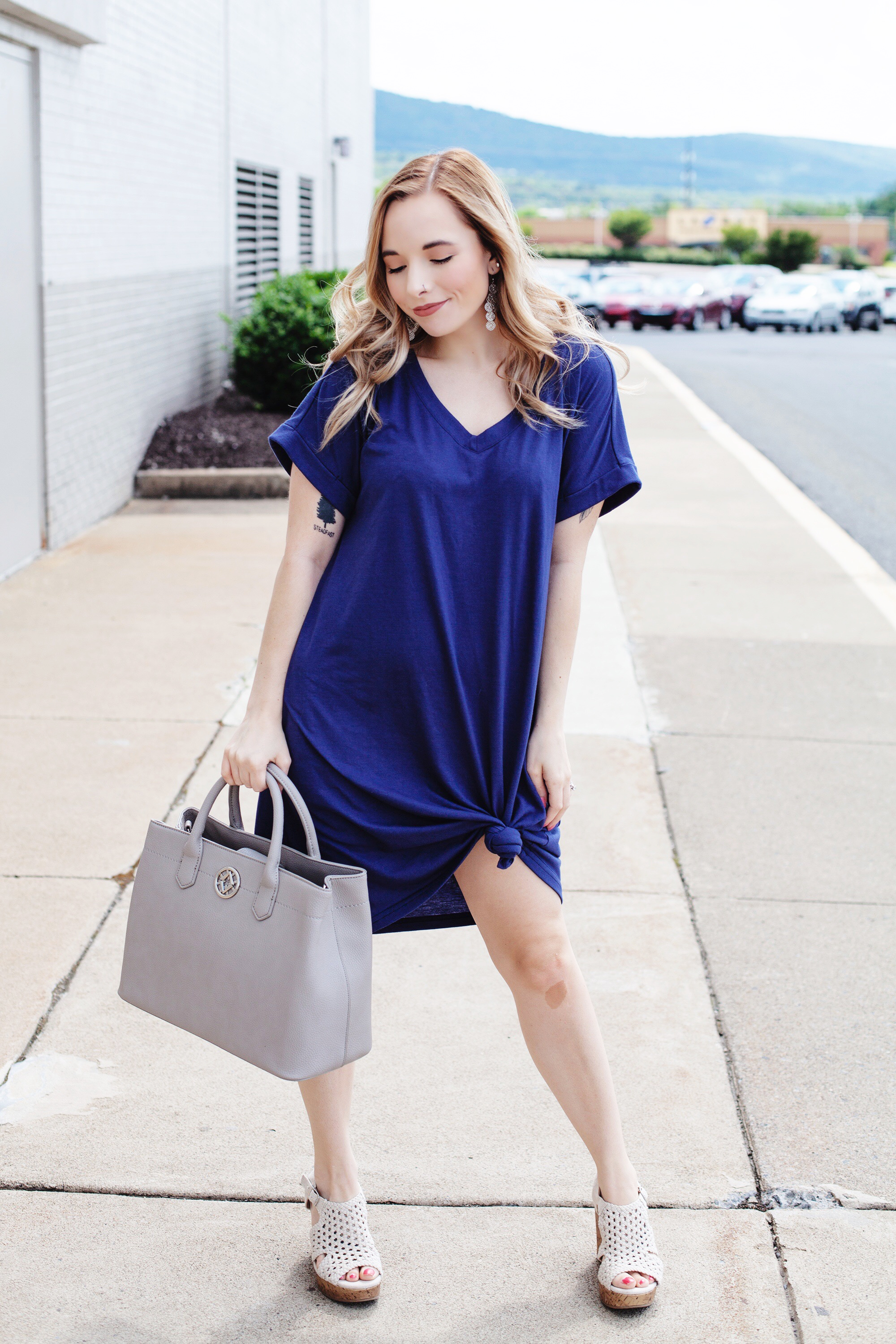 Navy T-Shirt Dress From Amazon