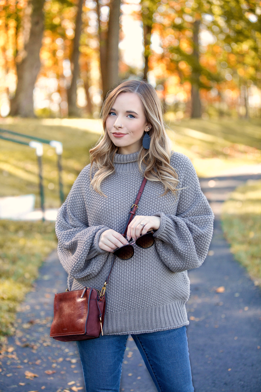 Gray Oversized Sweater Amazon Fashion