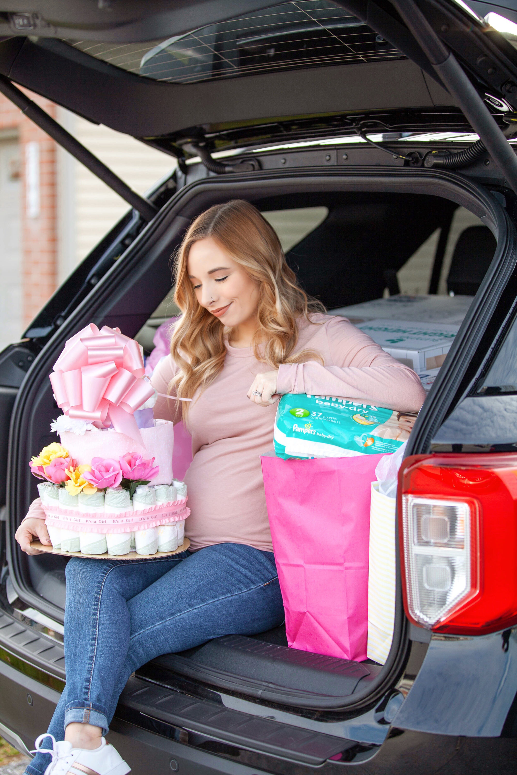 Baby Shower with Ford SUV