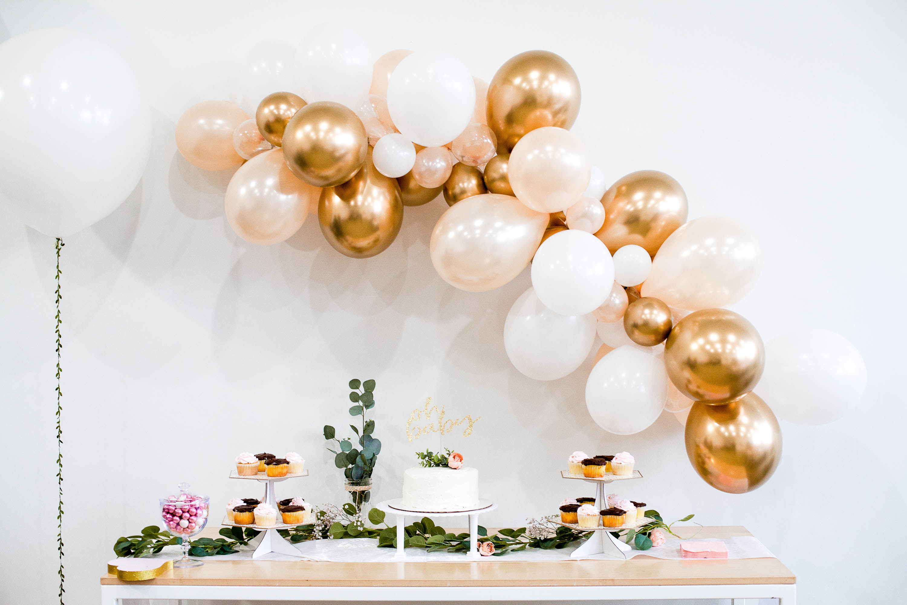 Blush Pink And Gold Balloon Garland