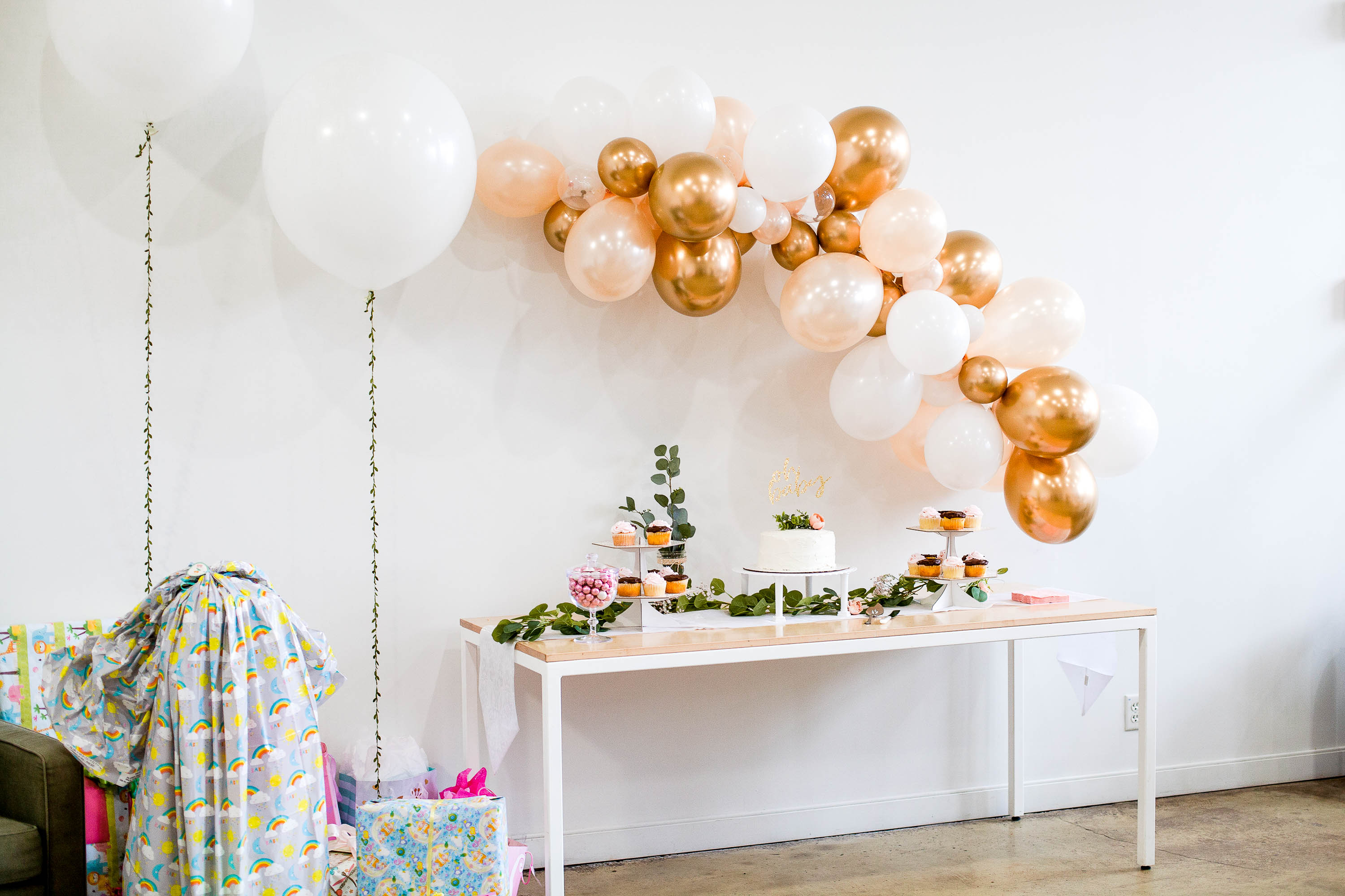 Blush Pink And Gold Baby Shower