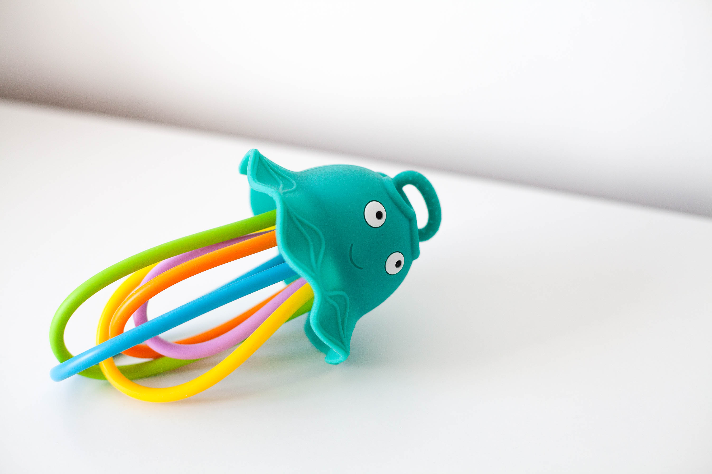 Lil' Squish Jellyfish Sensory Rattle + Teething Toy from Baby Banana