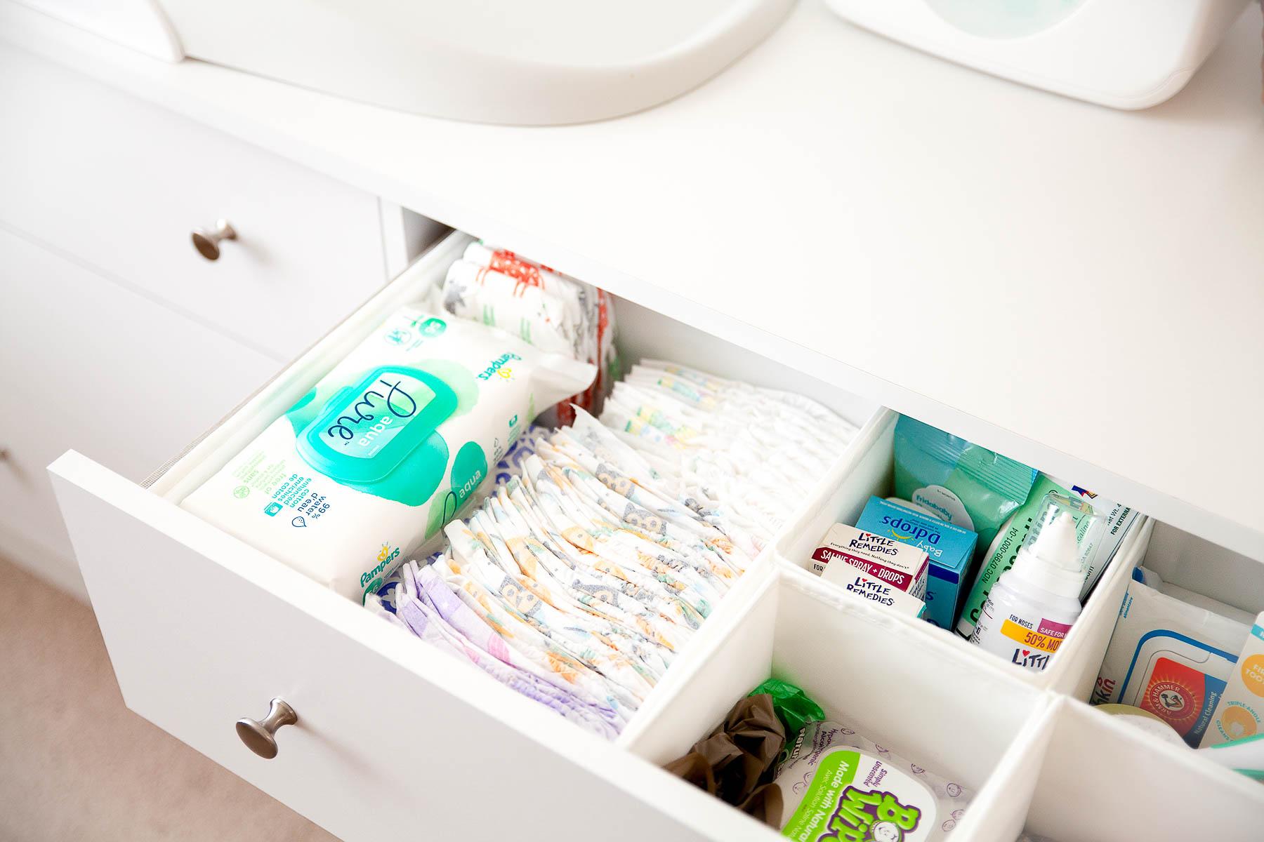 Nursery Dresser Organization