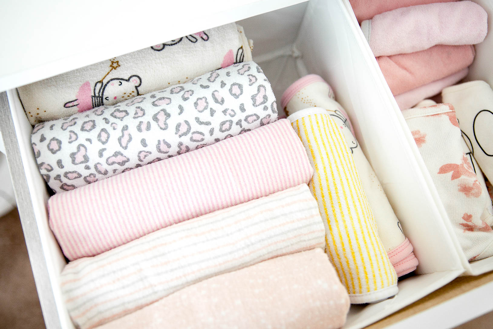 Easy Nursery Dresser Organization
