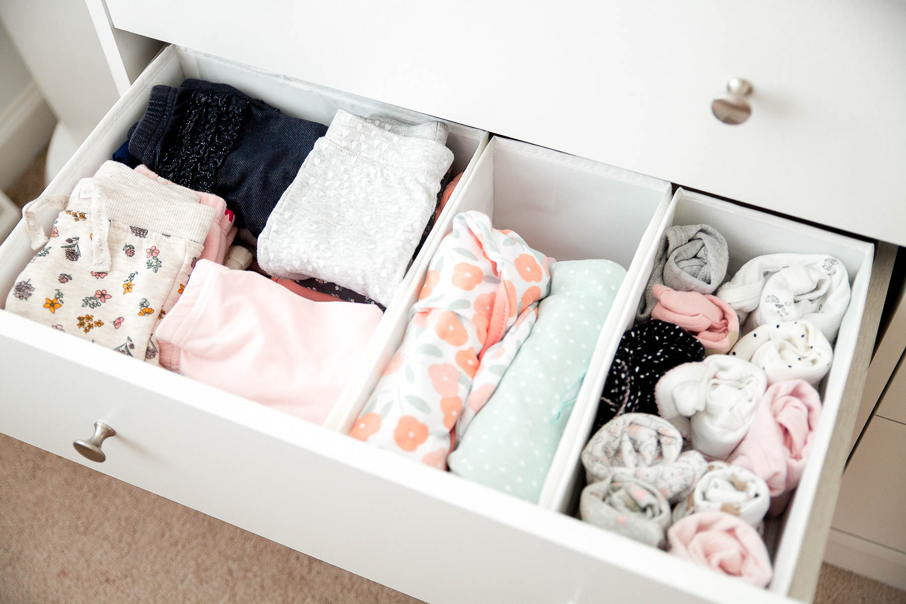 Nursery Dresser Organization For Newborn