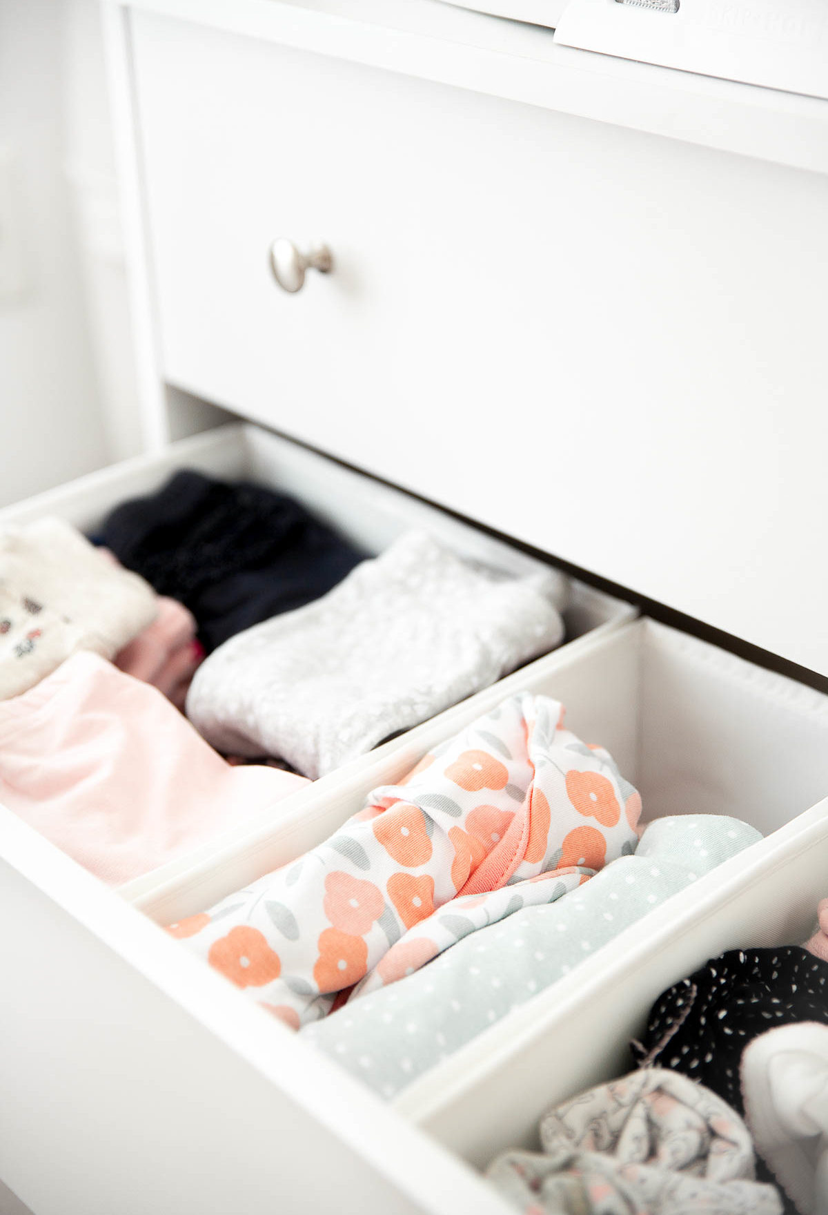 Nursery Dresser Organization Ideas