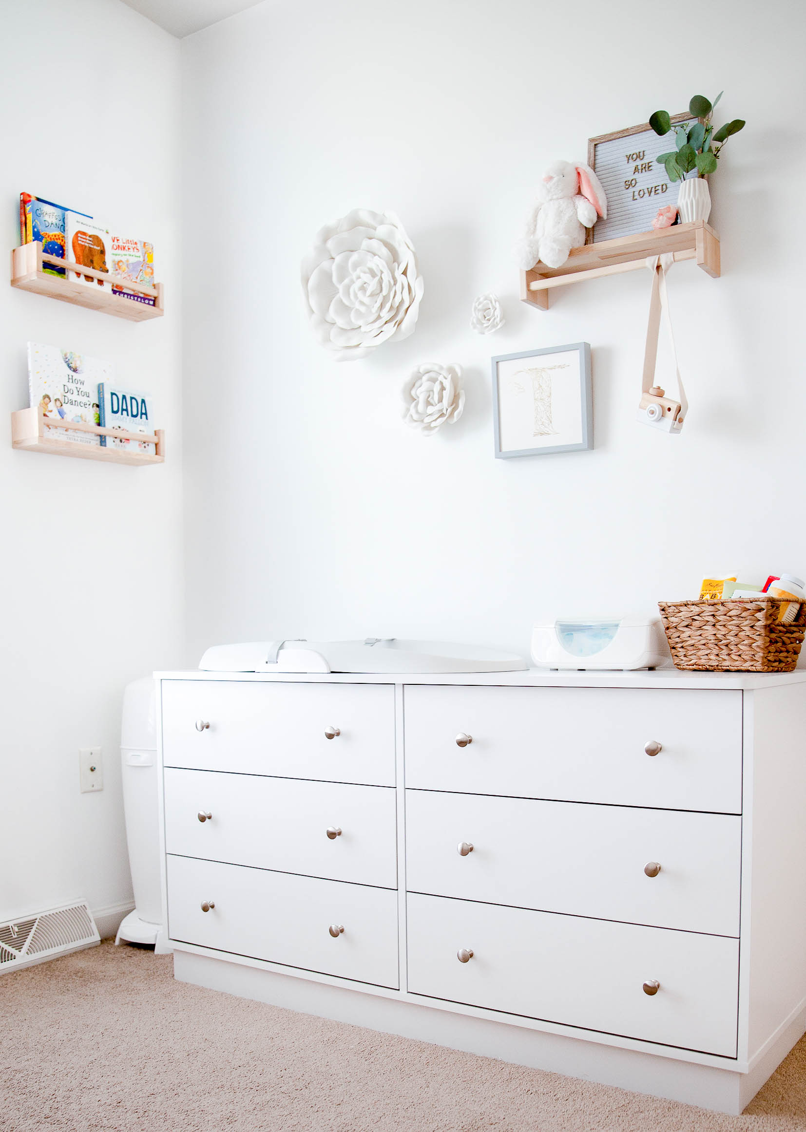 Nursery Dresser And Changing Table Organization
