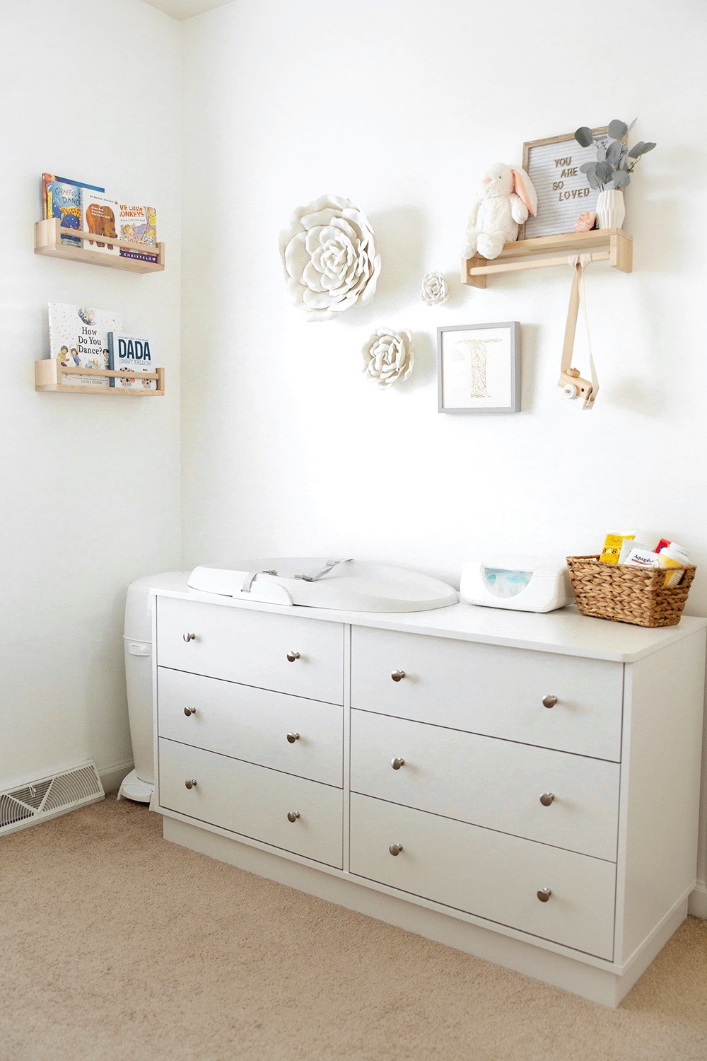Nursery Changing Table Organization